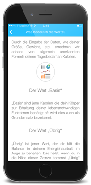 Callogs Basiswerte - App by apptec