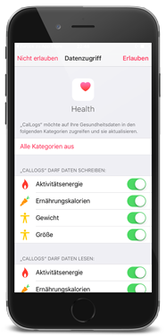Callogs mit HealthKit synchronisieren - by apptec